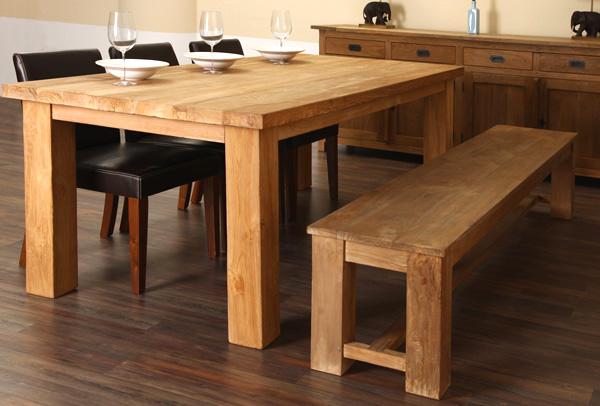 teakholz esstisch massiv teak tisch teaktisch esszimmer 200cm. Black Bedroom Furniture Sets. Home Design Ideas