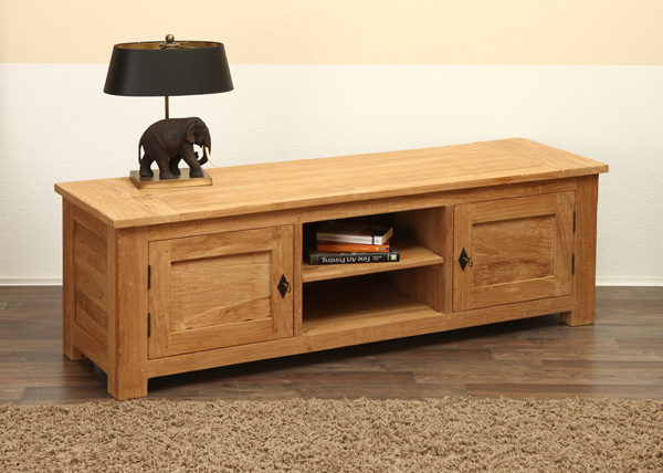 lowboard tv board sideboard teakholz anrichte buffet teak holz massiv ebay. Black Bedroom Furniture Sets. Home Design Ideas