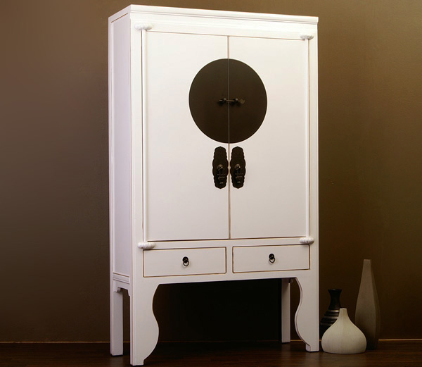 chinesischer hochzeitsschrank 37cm tief schrank china m bel fernsehschrank wei ebay. Black Bedroom Furniture Sets. Home Design Ideas