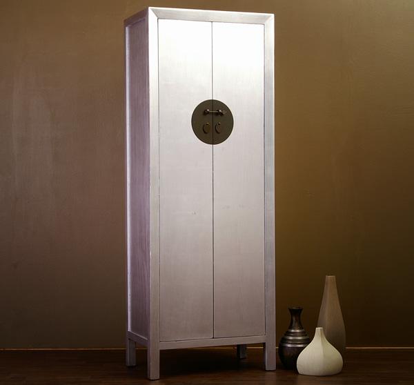 chinesischer schrank hochzeitsschrank silber china 343 ebay. Black Bedroom Furniture Sets. Home Design Ideas