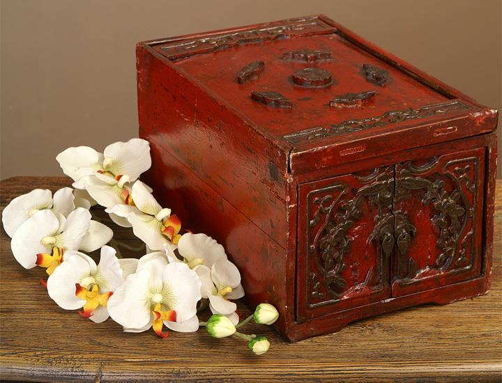 antike chinesische schmuckschatulle china truheschmuckk stchen schmuck kasten eur 95 00. Black Bedroom Furniture Sets. Home Design Ideas