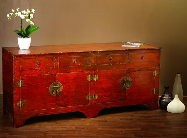 china sideboard rot 185cm antik hochzeitsschrank m bel ebay. Black Bedroom Furniture Sets. Home Design Ideas