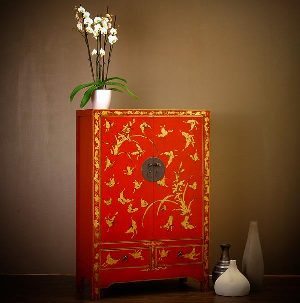 chinesischer schrank schmetterling schmetterlinge. Black Bedroom Furniture Sets. Home Design Ideas