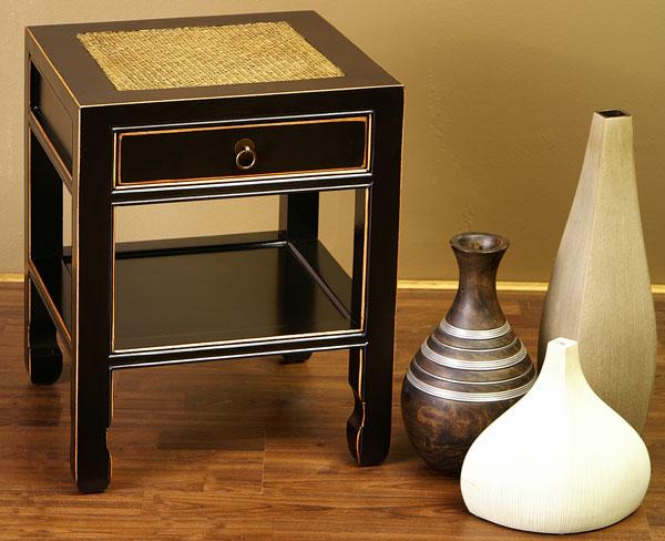 chinesischer nachttisch china m bel tisch schwarz beistelltisch nachtschrank ebay. Black Bedroom Furniture Sets. Home Design Ideas
