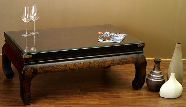 chinesischer tisch opiumtisch couchtisch leder bezug. Black Bedroom Furniture Sets. Home Design Ideas