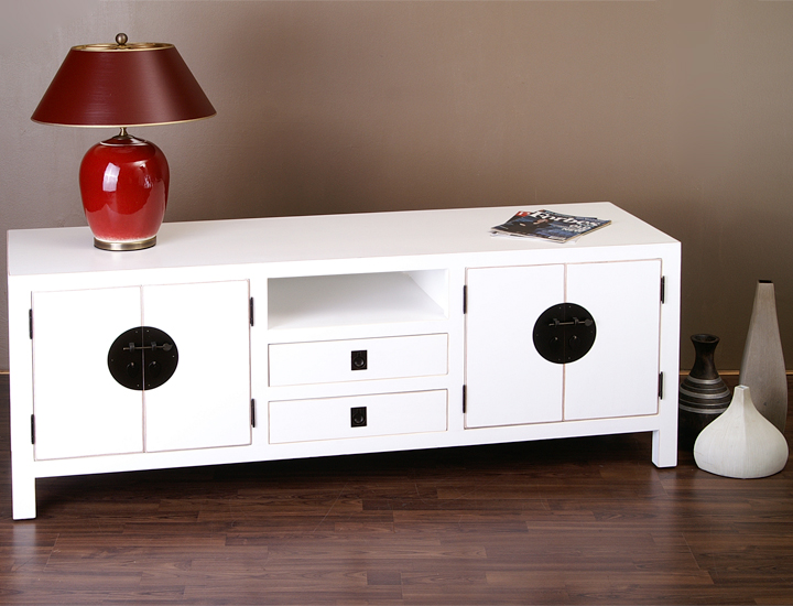 sideboard lowboard tv board fersehschrank ferseh bord fernsehbord weiss weiss neu ebay. Black Bedroom Furniture Sets. Home Design Ideas