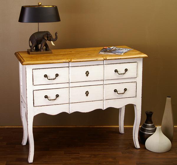 kommode weiss landhaus mobel louis stil barock ebay. Black Bedroom Furniture Sets. Home Design Ideas