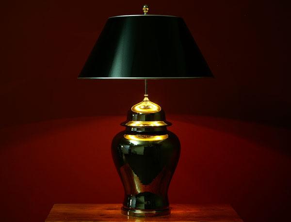 silber vasenlampe deckelvase lampe chrom leuchte 83cm ebay. Black Bedroom Furniture Sets. Home Design Ideas