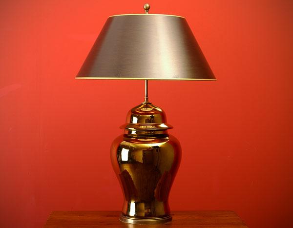 gold vasenlampe deckelvase lampe tischleuchte vase 83cm. Black Bedroom Furniture Sets. Home Design Ideas